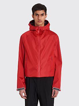 Prada Hooded Zip Jacket Red