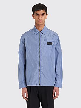 Prada Washed Nylon Shirt Nube Blue
