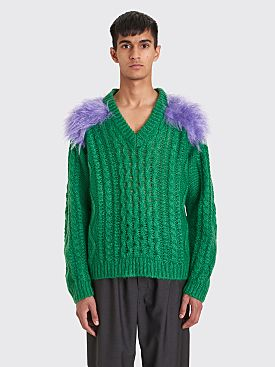 Prada Mohair Wool Sweater Green