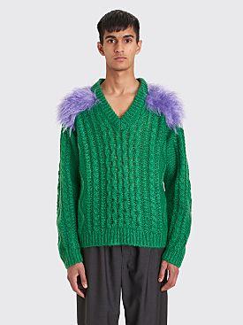 Prada Mohair Wool Sweater Green