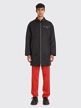 Prada Padded Down Coat Black