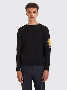 Prada Knitted Wool Sweater Black