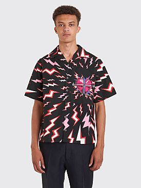 Prada Printed Short Sleeve Shirt Black / Red