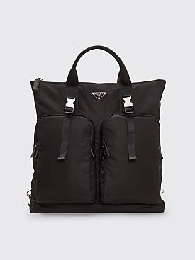 Prada Nylon Tote Backpack Black