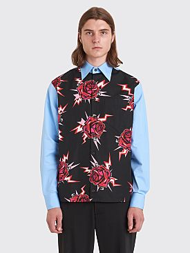 Prada Printed Poplin Shirt Light Blue