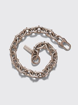 Prada Oversized Cable Chain Silver