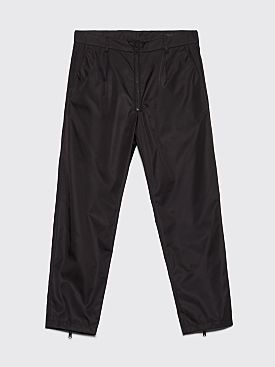 Prada Gabardine Nylon Zip Detail Pants Black