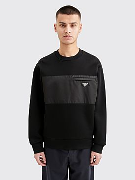 Prada Technical Cotton & Nylon Gabardine Sweatshirt