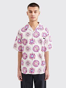 Prada Poplin Pois Tie Dye Shirt Glicine
