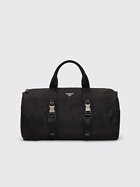 Prada Nylon & Saffiano Leather Duffel Bag Black