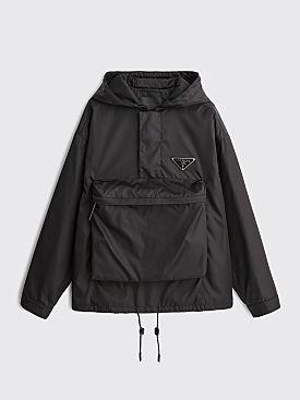 Prada Gabardine Nylon Anorak Jacket Black