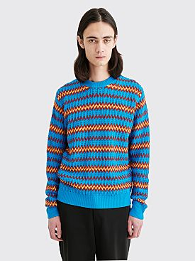 Prada Wool Knit Sweater Turquoise