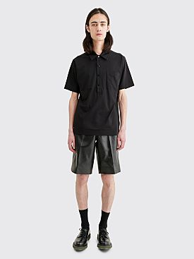 Prada Leather Shorts Black