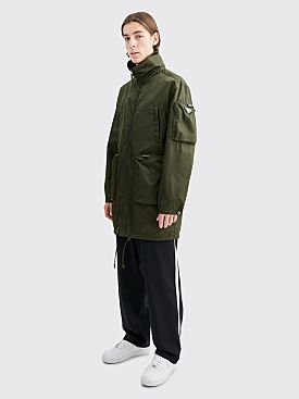 Prada Gabardine Nylon Impermeable Coat Military Green
