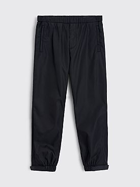 Prada Technical Gabardine Nylon Logo Pants Black