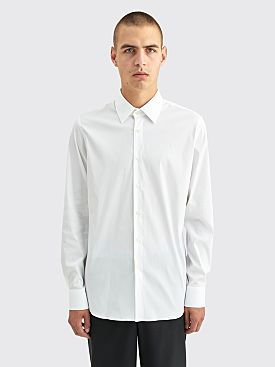 Prada Poplin Stretch Shirt White