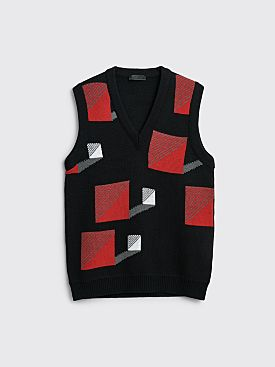 Prada Wool Vest Black / Red