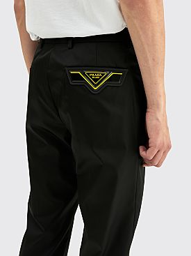 Prada Gabardine Pants Black