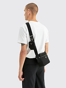 Prada Nylon Cross-Body Bag Black
