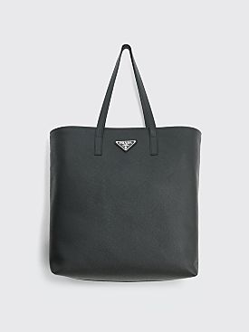 Prada Saffiano Leather Tote Black