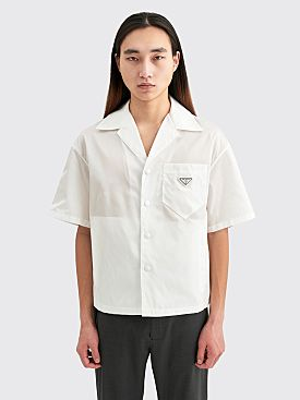 Prada Gabardine Re-Nylon Shirt White