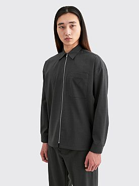 Prada Wool Poplin Shirt Slate Grey