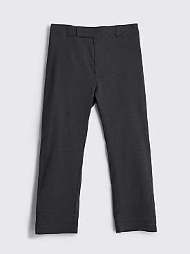 Prada Wool Poplin Pants Slate Grey