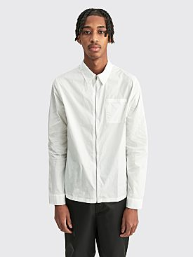 Prada Chambray Zip Shirt White