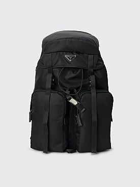 Prada Nylon & Saffiano Leather Backpack Black