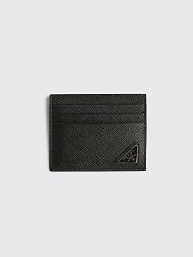 Prada Saffiano Leather Card Holder Black