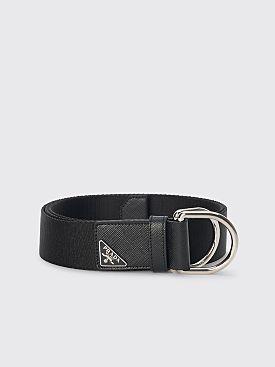 Prada Woven Nylon Belt Black