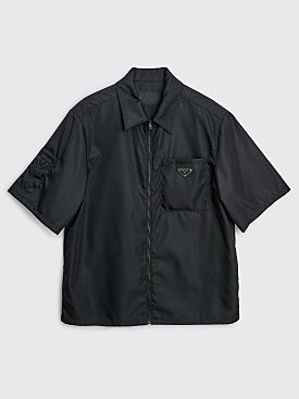 Prada Re-Nylon Zip Shirt Black
