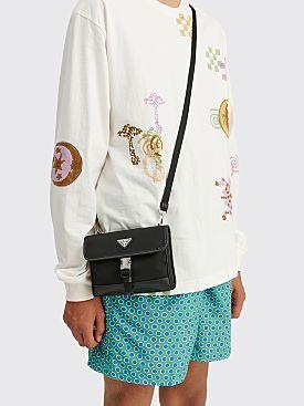 Prada Re-Nylon Saffiano Leather Smartphone Bag Black