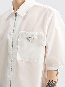 Prada Re-Nylon Zip Shirt White