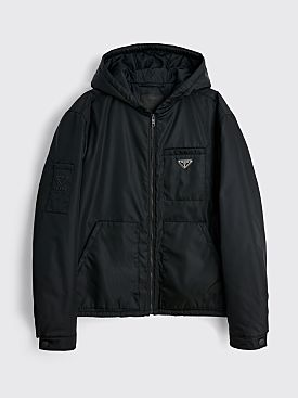 Prada Padded Gabardine Re-Nylon Jacket Black