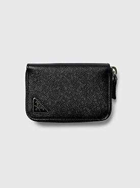 Prada Saffiano Leather Wallet Black