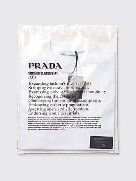 Prada Three Pack Cotton Jersey T-shirts White