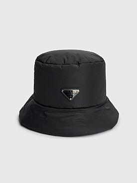 Prada Re-Nylon Padded Bucket Hat Black