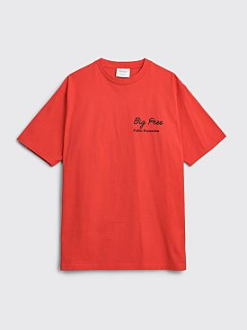 Public Possession Big Free T-shirt Red