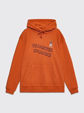 Quartersnacks Snackman Hooded Sweatshirt Rust