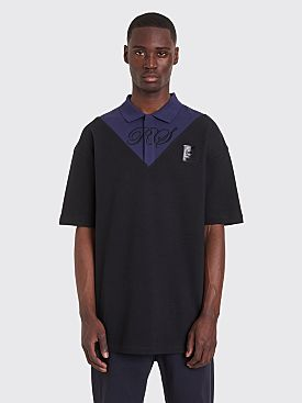 Raf Simons x Fred Perry Oversized V-Insert Pique Shirt Black