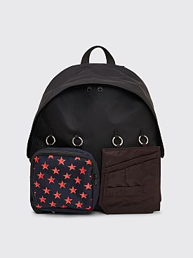 Raf Simons x Eastpak Padded Red Star Loop Backpack Black