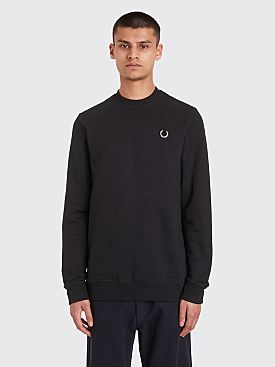 Raf Simons x Fred Perry Laurel Detail Sweatshirt Black