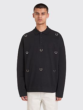 Raf Simons x Fred Perry Oversized Multi Laurel Detail Polo Sweatshirt