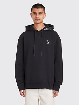 Raf Simons x Fred Perry Print Hooded Sweatshirt Black