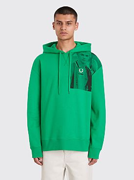 Raf Simons x Fred Perry Print Hooded Sweatshirt Fern Green