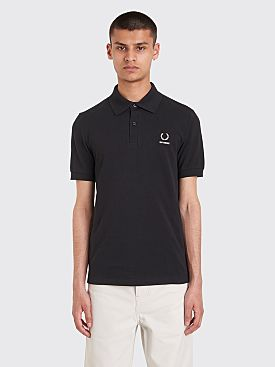Raf Simons x Fred Perry Laurel Detail Polo T-shirt Black