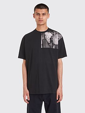 Raf Simons x Fred Perry Shoulder Print T-shirt Black