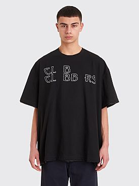 Raf Simons Lined Print T-shirt Black