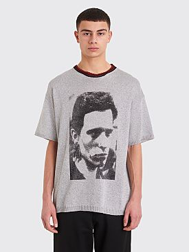 Raf Simons Lurex Scarf T-shirt Metallic Light Grey